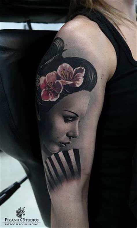 geisha realistic tattoo geisha tattoo images designs