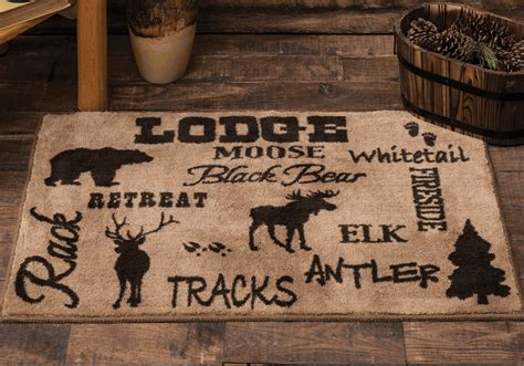 cabin bathroom rugs cabin decor and cabin bedding at black forest decor html