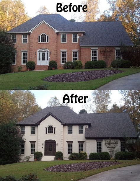 what color to paint brick house make trim blend in with roof color love painted brick