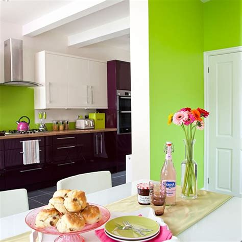 apple green white and aubergine kitchen diner decorating housetohome co uk