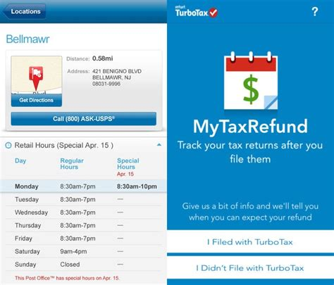 usps locations and hours 30 tax apps for android iphone to prepare your taxes on
