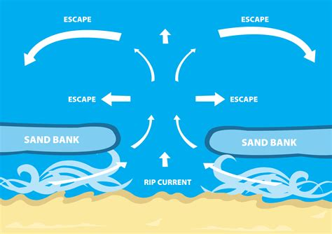 rip diagram understanding rip currents coast courier