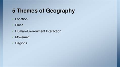 5 Themes Of Geography Tagalog | lecture philippine history