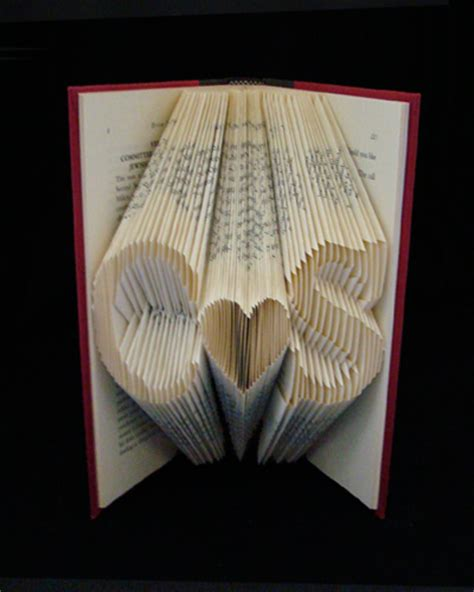 Origami Folded Book - book sculptures make origami