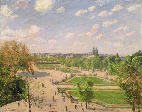 file camille pissarro the garden of the tuileries on a