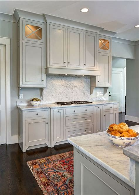 Gray Painted Kitchen Cabinets by Most Popular Cabinet Paint Colors