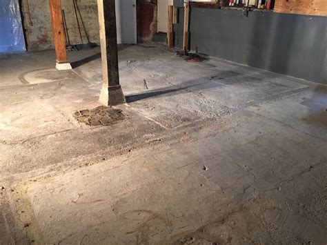 self leveling basement floor what s the best way to level this basement floor home