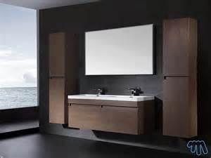 good Robinet Salle De Bain Design #1: ensemble-salle-de-bain-bois-brun-double-vasque-lobe.jpg