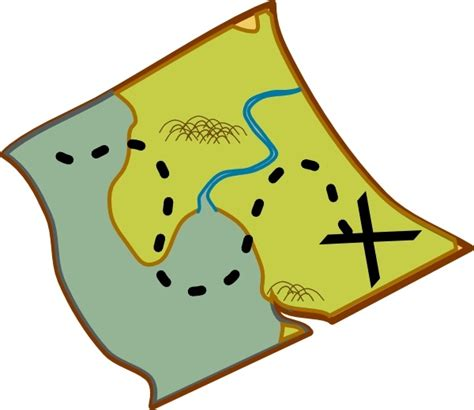 clipart of map treasure map clip free vector in open office drawing