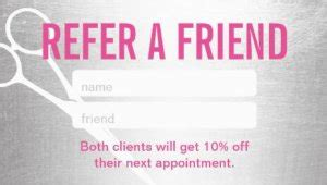 salon refer a friend card templates 15 exles of referral card ideas and quotes that work