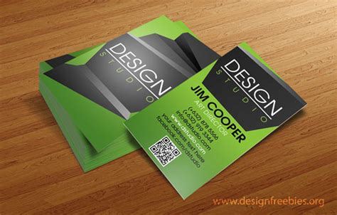 free psd templates elegant design studio business card