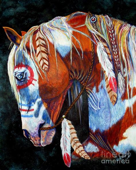 indian war pony painting by amanda hukill