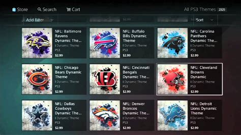 themes playstation store nfl ps3 themes in the playstation store youtube