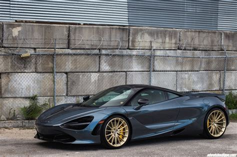 mclaren wheels mclaren 720s gets frozen gold hre wheels looks