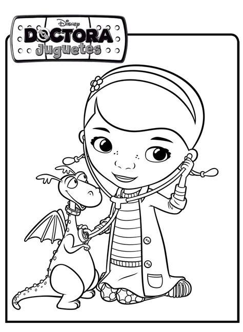 colorea tus dibujos dibujos de caricaturas colorea tus dibujos dibujo de doctora juguetes y felpita