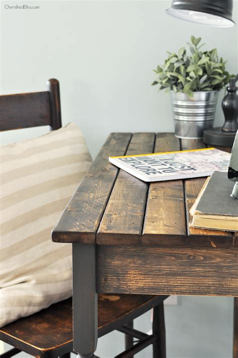 simple wood writing desk 7 simple diy farmhouse projects the happy housie