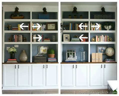 decorate bookshelves on
