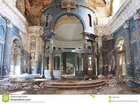 Pictures Of Banisters Old Church Stock Photo Image Of Architecture Devastated