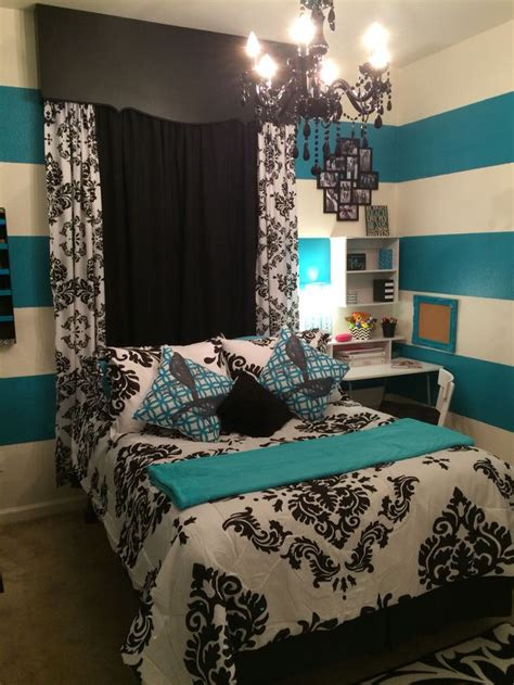 teal black and white bedroom black white teal bedroom teal stripes and real