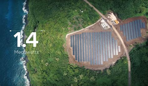 charging tesla with solar panels tesla is powering an entire island with solar panels and