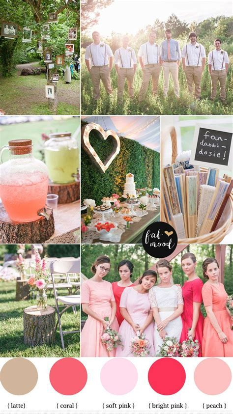 Rustic Vintage Wedding { Coral,peach,pink }   Rustic