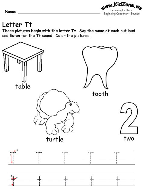 Letter T Worksheet Kindergarten by Beginning Consonant Sound Worksheets