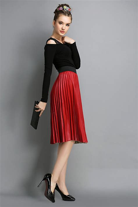 chiffon maxi pleated skirt designs