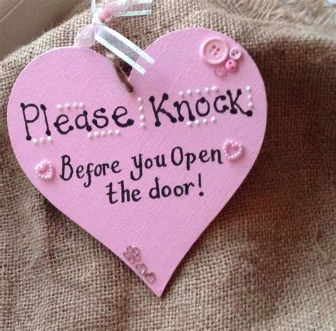 Knock The Door Sign by The World S Catalog Of Ideas