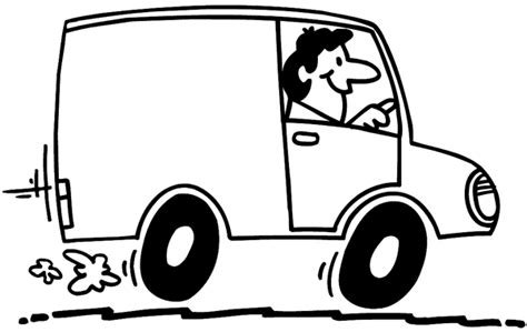 coloring page delivery truck small delivery truck drawing sketch coloring page