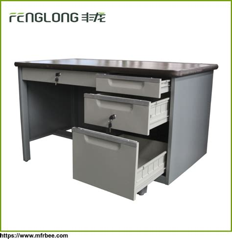 Computer Desk With Locking Drawers High Tech Executive Office Computer Table Design Used Metal Frame Office Desk With Locking