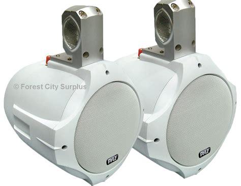 boat speakers canada plmrw85 pyle 174 8 inch white wakeboard marine speakers