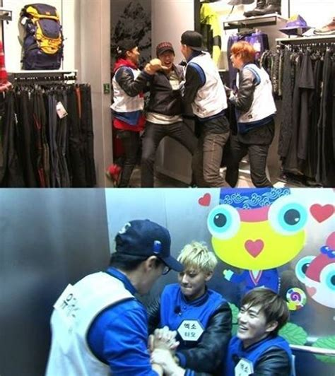 exo run running man with exo s tao and suho running man