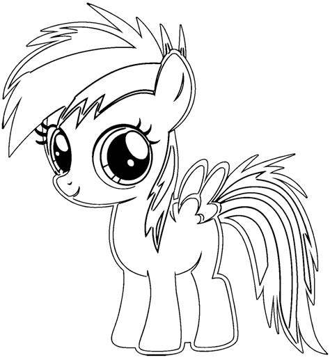 my little pony coloring pages rainbow dash baby printable