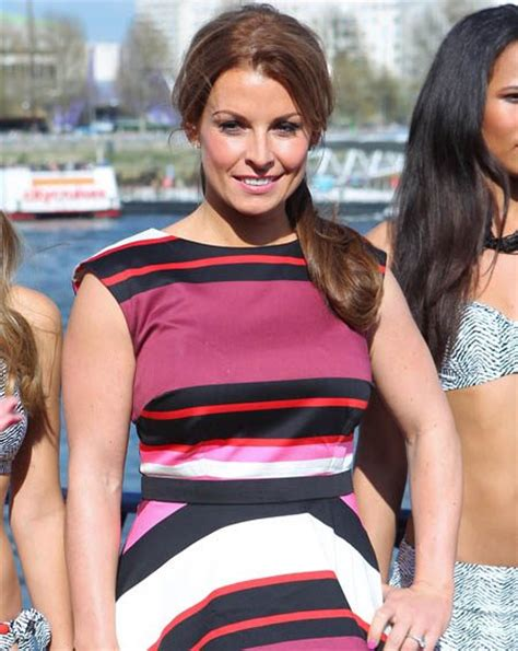 Coleen Mcloughlin Unveils New Perfume And A New Look by Coleen Rooney Keeps Covered Up As She Unveils New