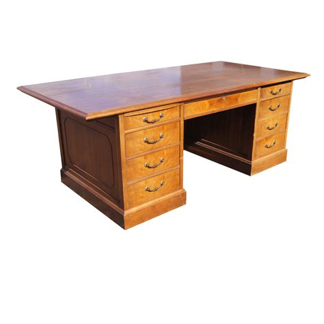 Vintage Mid Century Modern Jasper Traditional Wood Desk Ebay Wood Desk
