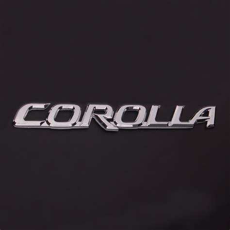 logo toyota corolla freeshipping auto car 3d chrome plated metal corolla logo