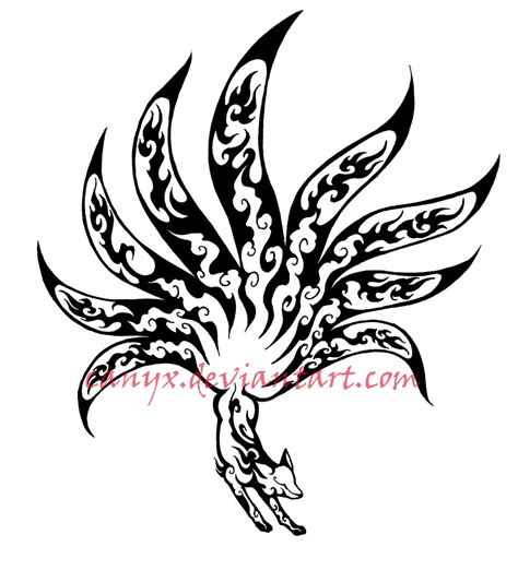 9 tailed fox tattoo nine tailed fox by canyx on deviantart
