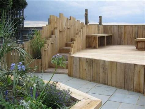 Garden Design Using Sleepers by Wooden Garden Sleepers Yes Or No To Railway Sleepers In