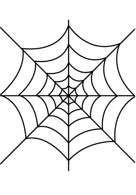 Glue Spider Web Halloween Window Cling Spider Web Template