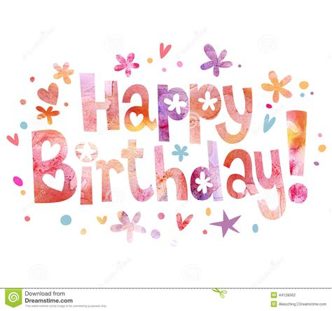 happy birthday text design for facebook happy birthday text stock illustration image 44128562
