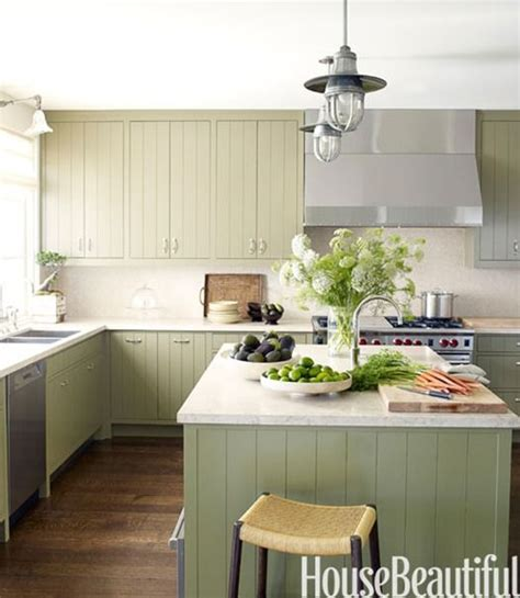 green painted kitchen cabinets pale green painted cabinets