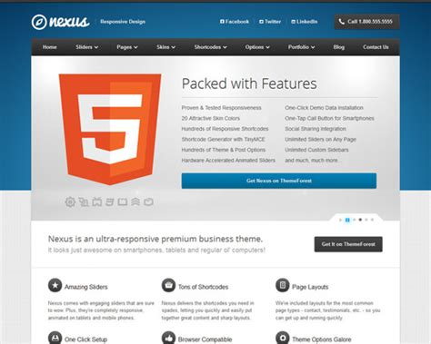 theme wordpress nexus nexus responsive wordpress business theme themeshaker com