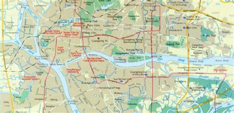 guangzhou map tourist attractions maps of guangzhou guangzhou tour map guangzhou tourist