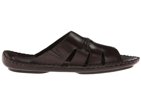 Hush Puppies Kulit Brown Black hush puppies 174 morocco slide ii in brown for brown leather lyst