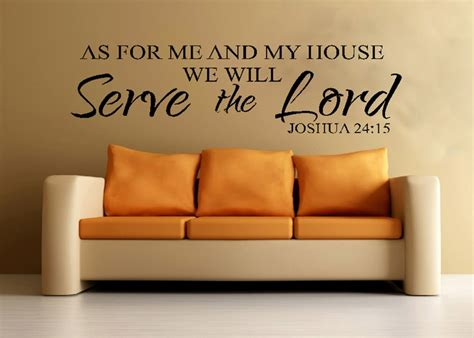 bible verses for the home decor scripture wall vinyl bible verse as for me and my house we will serve the lord joshua 24