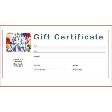 blank gift certificate template full imagine printable certificates