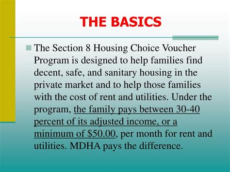 section 8 housing choice voucher ppt housing choice voucher section 8 participant
