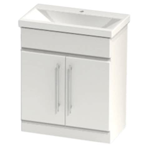 Vio Bathroom Furniture Atlanta Concepts Zest Floor Standing Vanity Unit 700mm Cool Grey