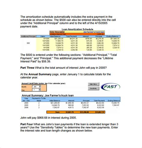 loan amortization calculator template sle amortization schedule calculator 9 documents in