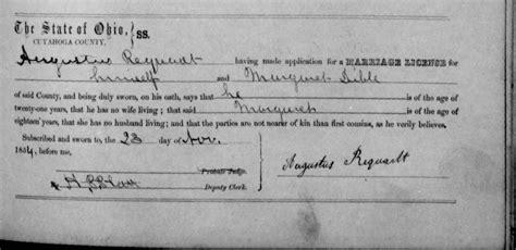 Cuyahoga County Marriage License Records Myerhoffs In Deutschland Und Michigan